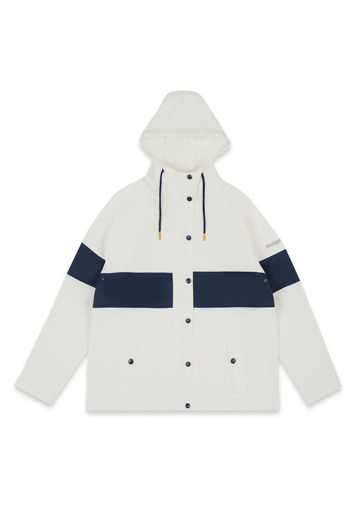 Mousqueton Baret Waterproof Jacket  - Blanc/ Marine