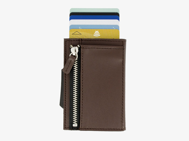 Ogon Design Cascade Wallet - Titanium/Brown