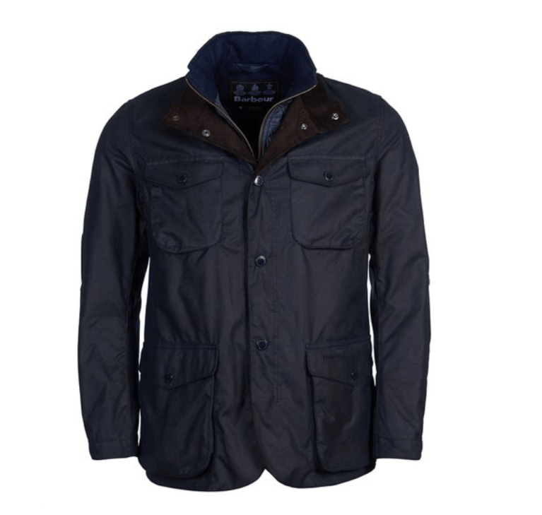 Barbour Ogston Wax Jacket - Navy
