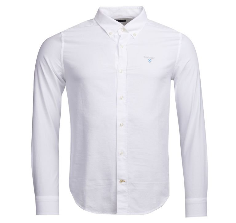Barbour Oxford 3 Plain Tailored Fit Shirt - White