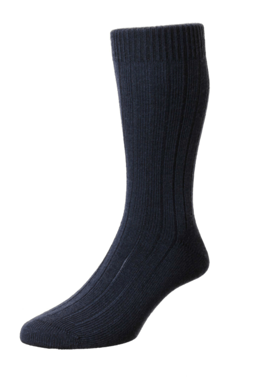 Pantherella Packington Merino Wool Socks - Navy