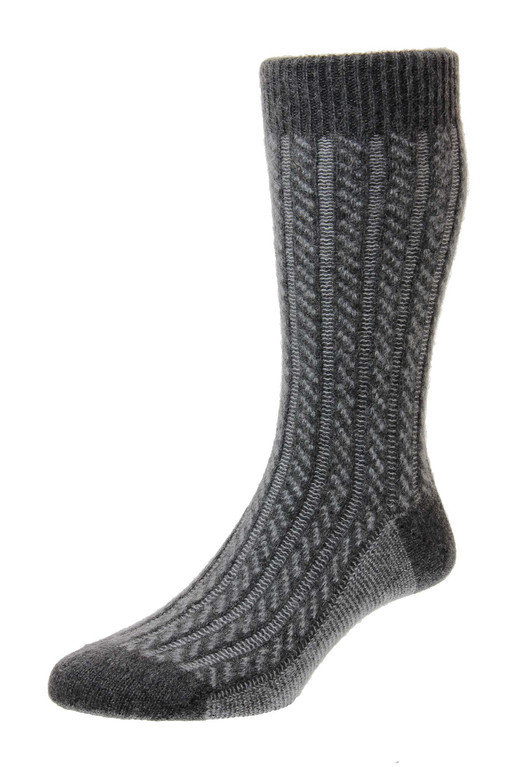 Pantherella Rothersay Cashmere Sock - Charcoal