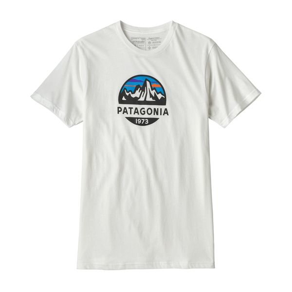 Patagonia Men's Fitzroy Organic Cotton T-shirt - White