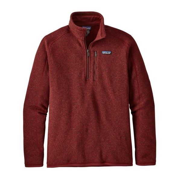 Patagonia Mens Better Sweater 1/4 Zip - Oxide Red