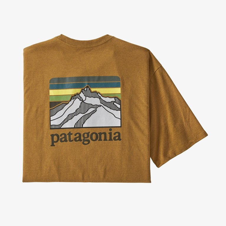 Patagonia Men's Line Logo Ridge Pocket Responsibili-Tee - Buckwheat Gold