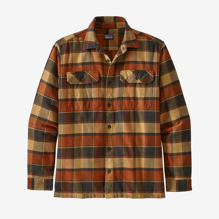 Patagonia Men's Long-Sleeved Fjord Shirt - Burnished Red