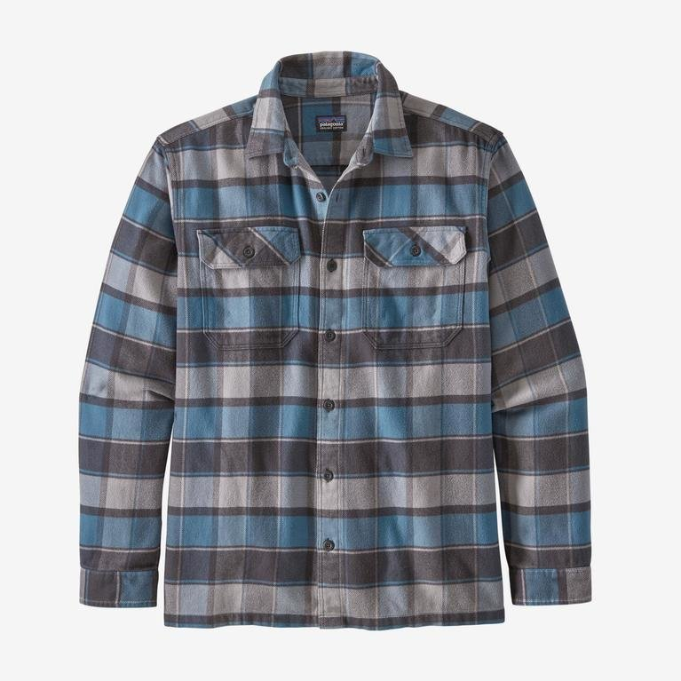 Patagonia Men's Long-Sleeved Fjord Shirt - Pigeon Blue