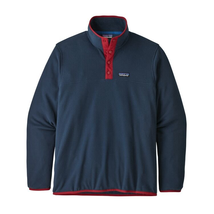 Patagonia Men's Micro D Snap-T Fleece Pullover - Navy Red