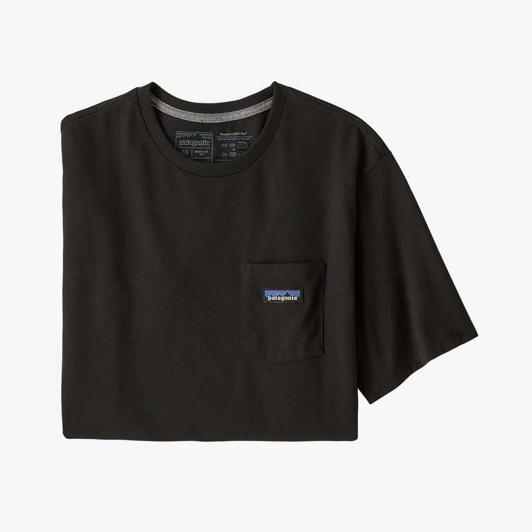Patagonia Men's P-6 Pocket Tee  - Black