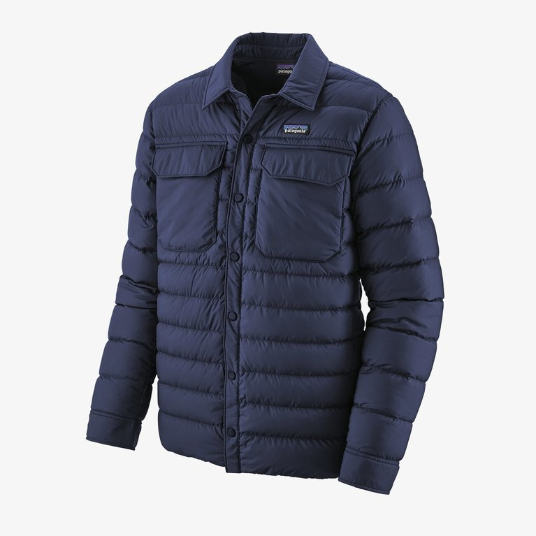 Patagonia Men's Silent Down Shaket  - Navy
