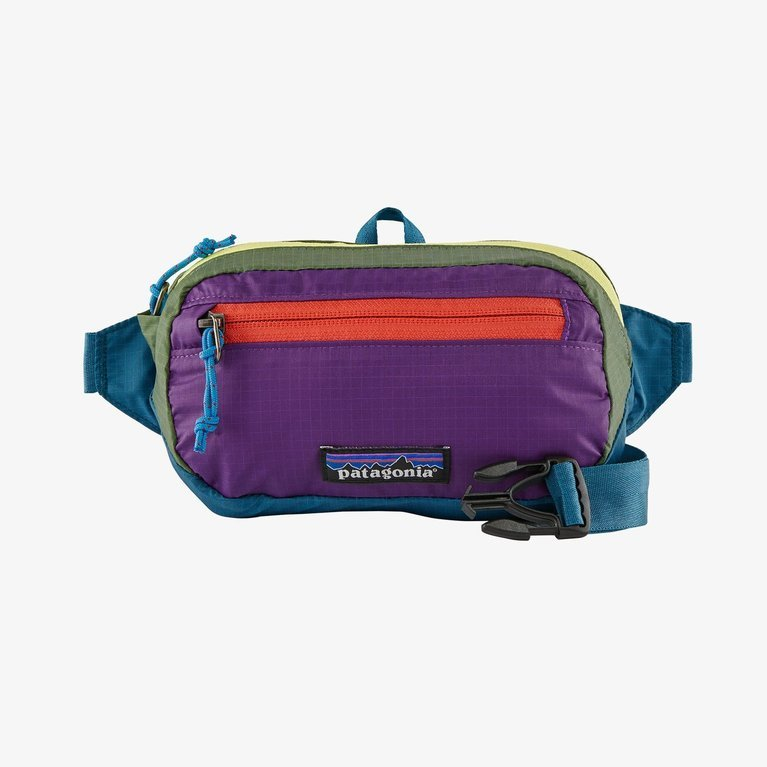 Patagonia Ultralight Black Hole Mini Hip Pack  - Patchwork: Steller Blue