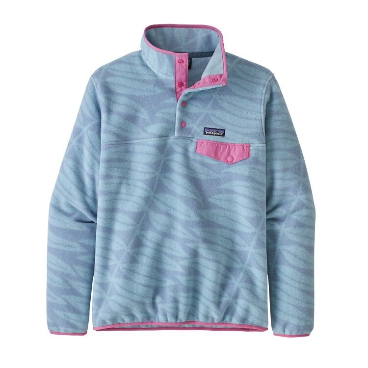 Patagonia Women's Lightweight Synchilla Snap-T Fleece Pullover - Eucalyptus Fronds: Berlin Blue