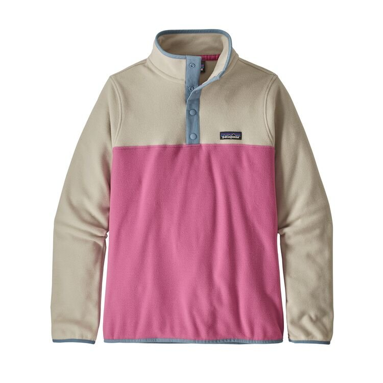 Patagonia Women's Micro D Snap-T Fleece Pullover - Marble Pink