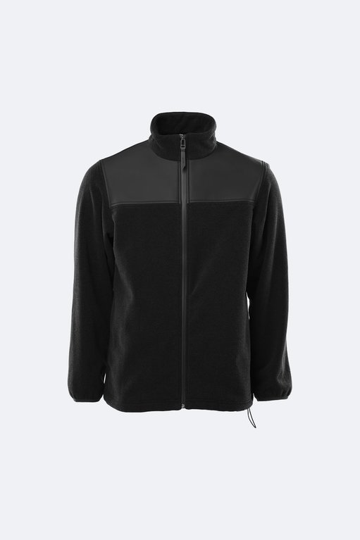 Rains Fleece Zip Pull Over  - Black