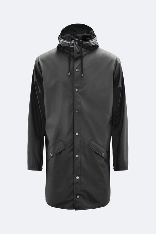 Rains Long Jacket 1202 - Black