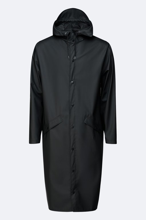 Rains Longer Jacket - Black
