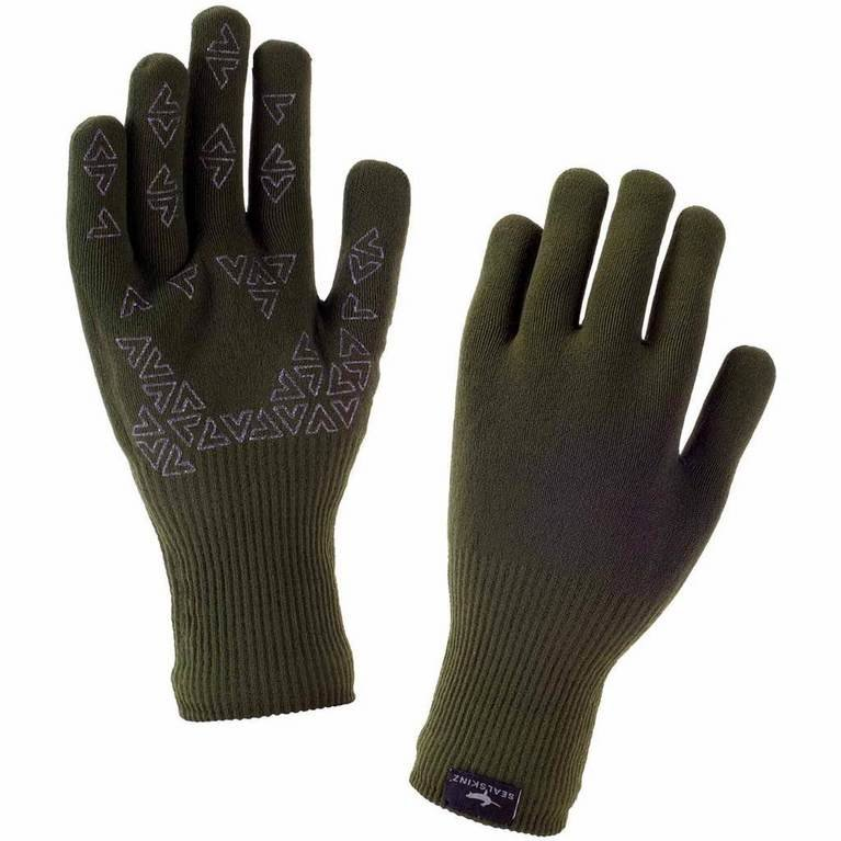 SealSkinz Ultra Grip Glove  - Olive