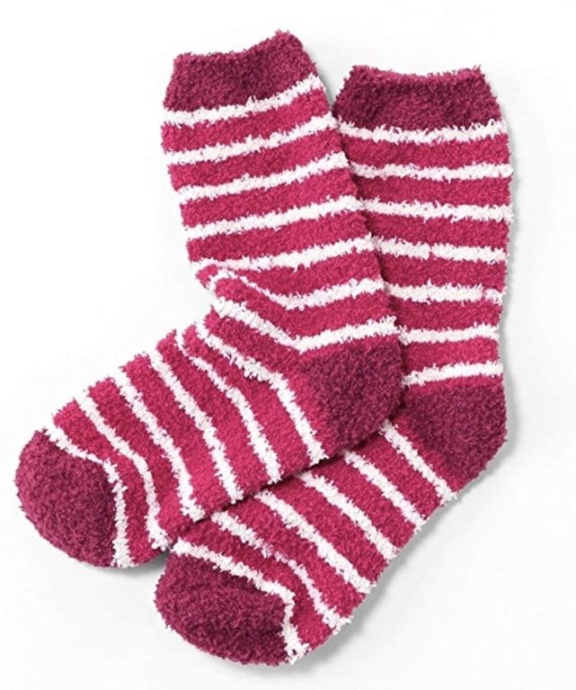 Seasalt Fluffies Short Socks - Pink/ Ecru