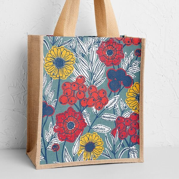 Seasalt Jute Shopper  - Dyers Garden Cliff