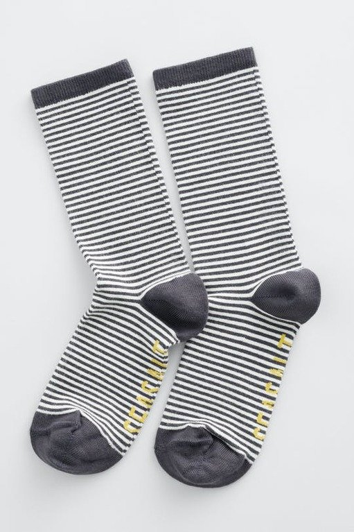 Seasalt Sailor Socks - Mini Stripe Coal