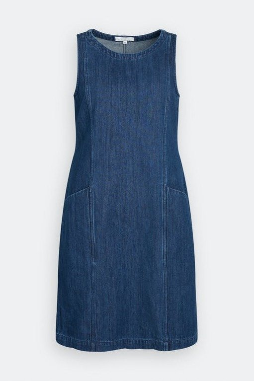 Seasalt Stone Sculpture Dress - Dark Wash Indigo