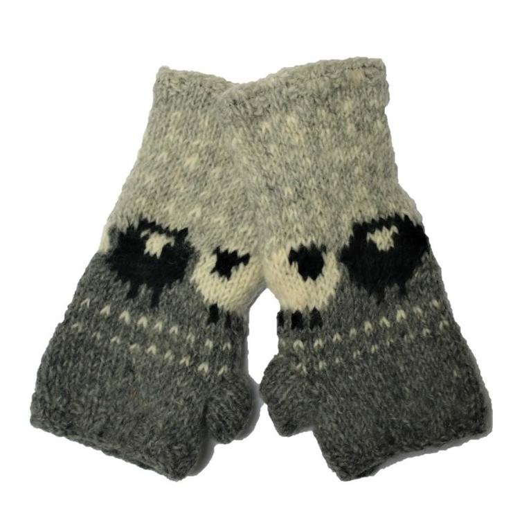 From The Source Sheep Mittens - Grey
