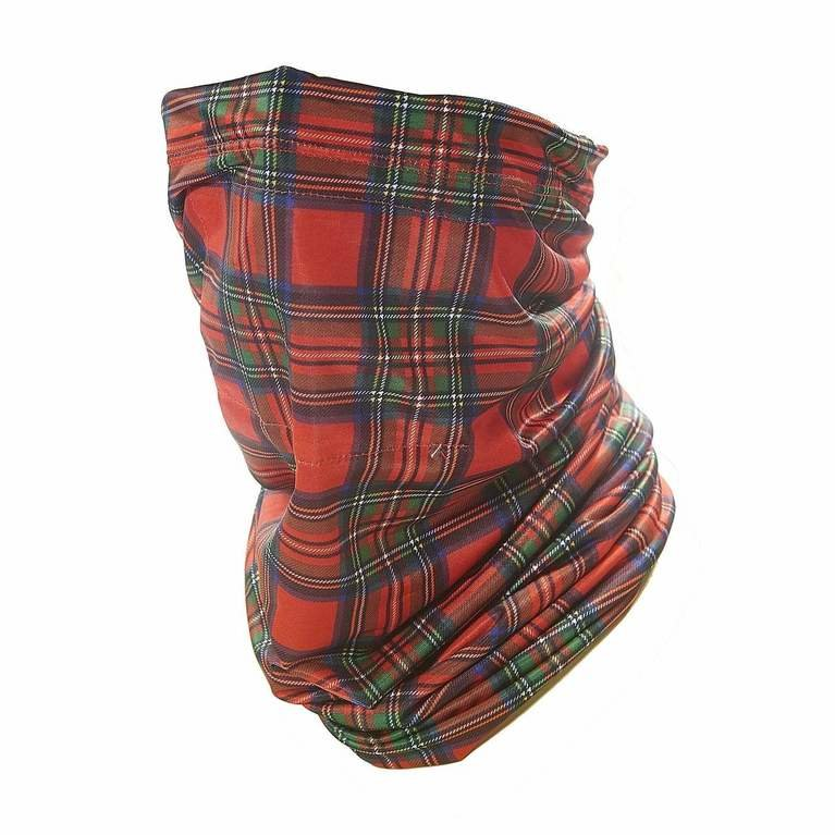 Eco Chic Snood Filter Pocket - Red Tartan