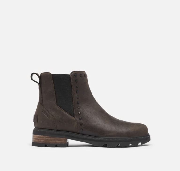Sorel Lennox Chelsea Stud Boot - Blackened Brown