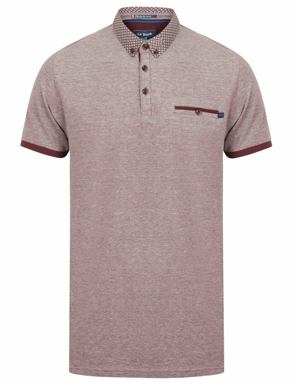Le Shark Mall B/Eye Polo - Aubergine