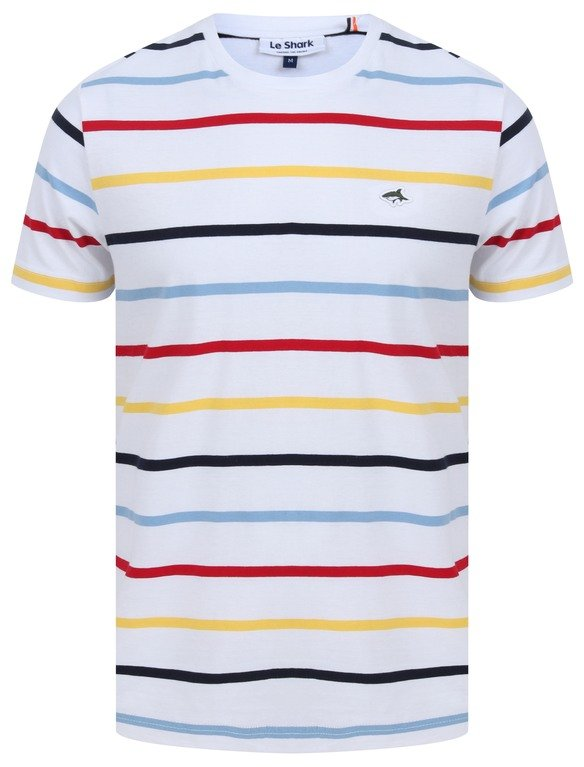 Le Shark Orchardson Stripe Tee - White