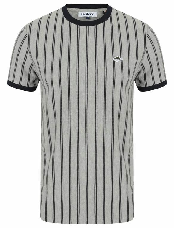 Le Shark Philips Horizontal Stripe Tee - Light Grey