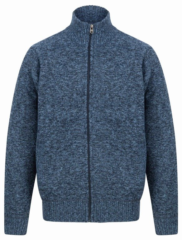 SRG Branwell Full Zip Knit - Blue