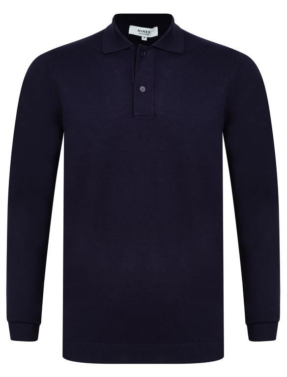 SRG Fenston Long Sleeved Polo Neck Knit - Navy