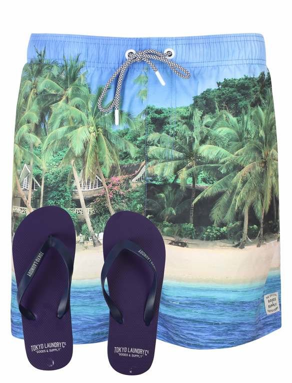 SRG Juan Short/Flipflop  - Palm Tree