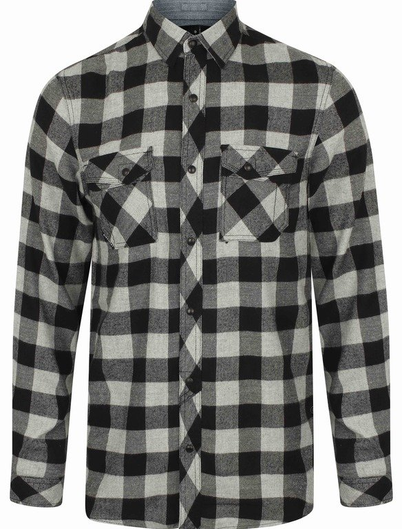 SRG Perez Flannel Shirt - Light Grey