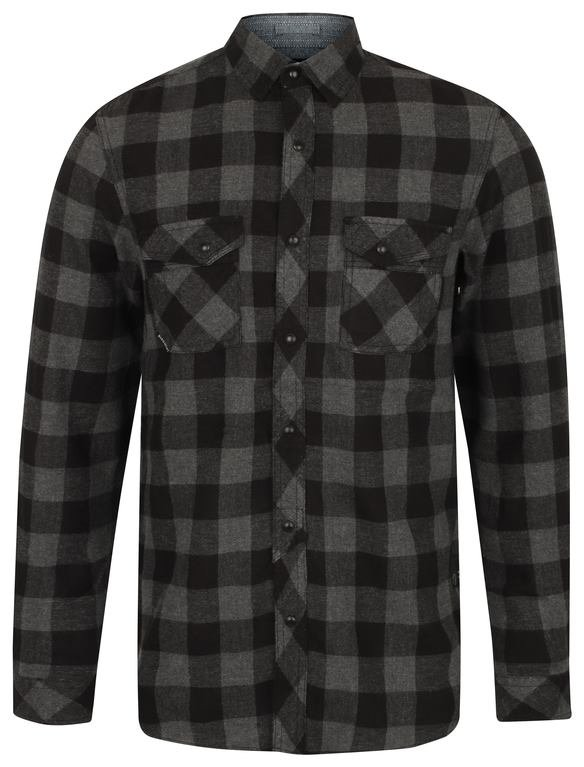 SRG Perez Flannel Shirt - Mid Grey