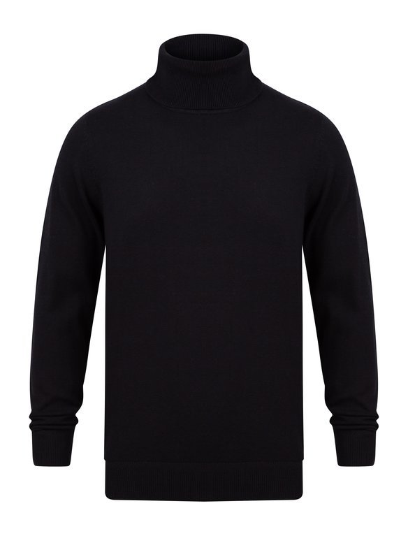 SRG Range Polo Neck Sweater - Black