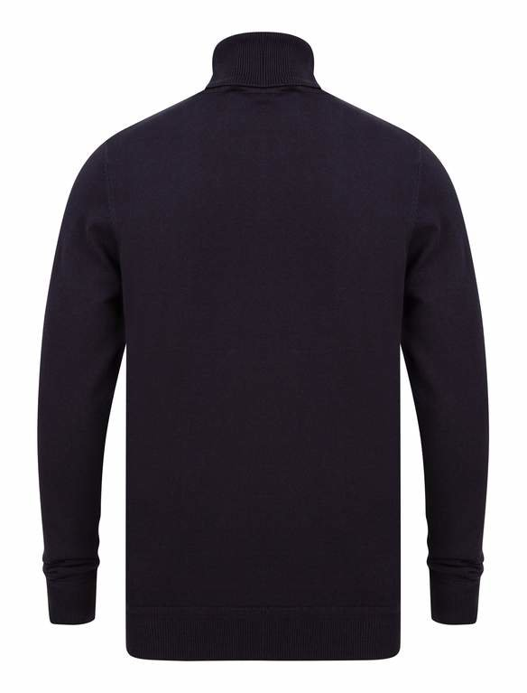 SRG Range Polo Neck Sweater - Navy