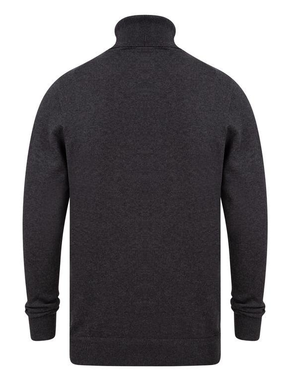 SRG Range Polo Neck Sweater - Charcoal