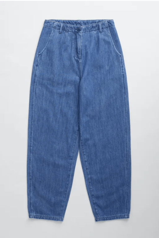 Seasalt Stone Throw Trousers - Mid Wash Indigo