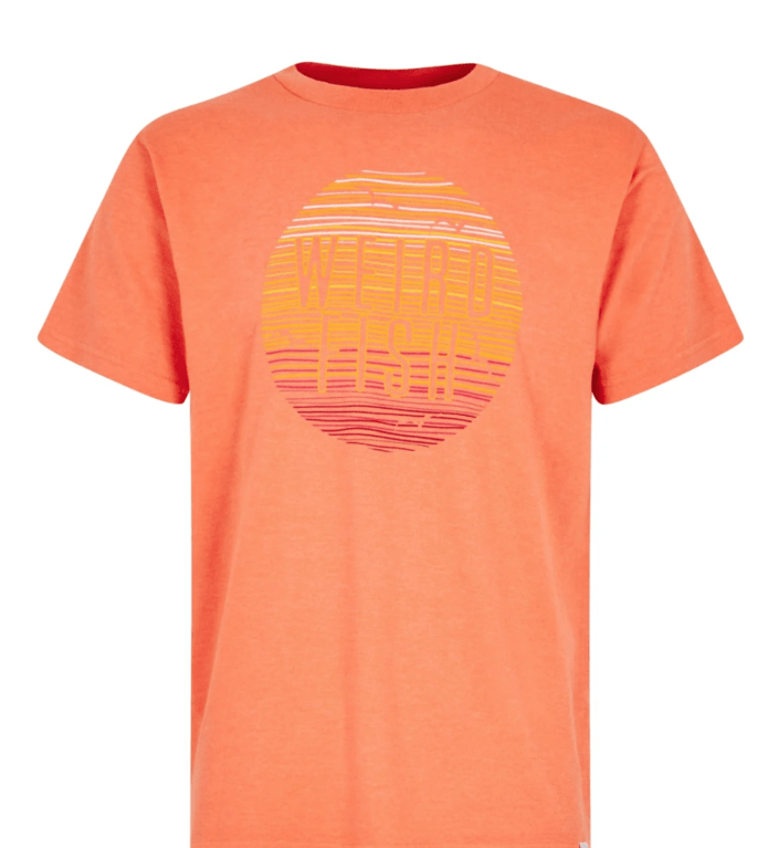 Weirdfish Sunset Tee - Orangeade