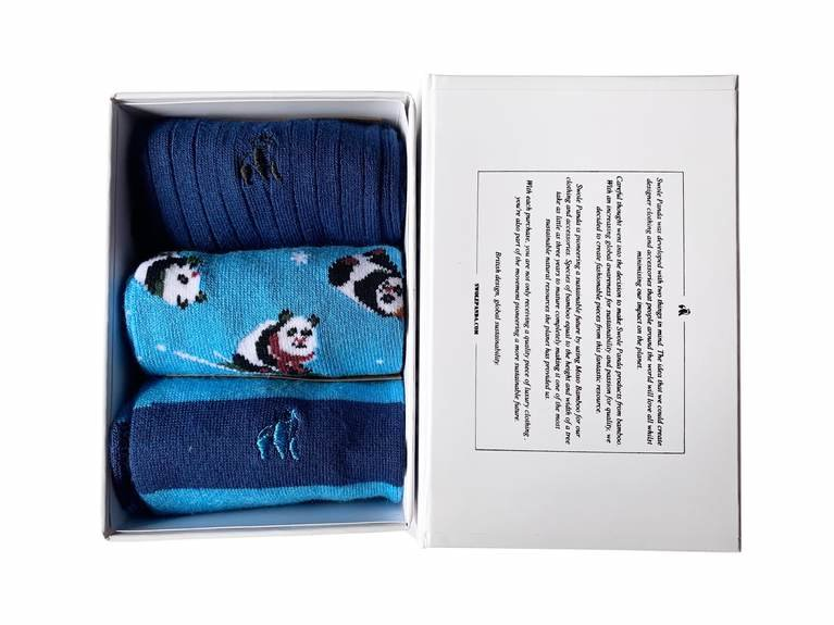 Swole Panda Xmas Gift Box  - Blue