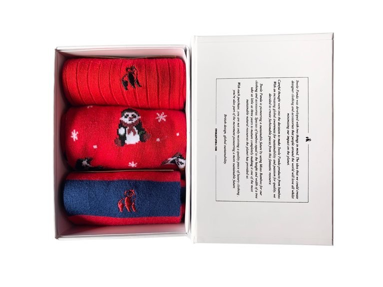 Swole Panda Xmas Gift Box  - Red
