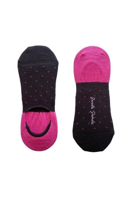 Swole Pandas Women's No Show Sock  - Spotted Pink