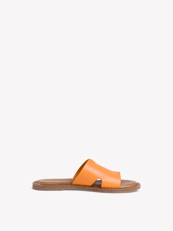 Tamaris Leather Slide 27135 - Orange