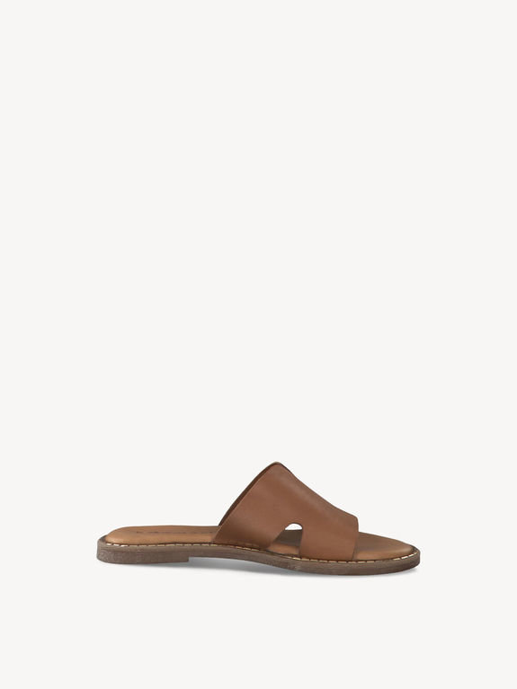 Tamaris Leather Slider 27135 - Cognac