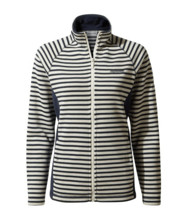 Craghoppers Women's Aisha Full Zip Fleece - Blue Navy Stripe