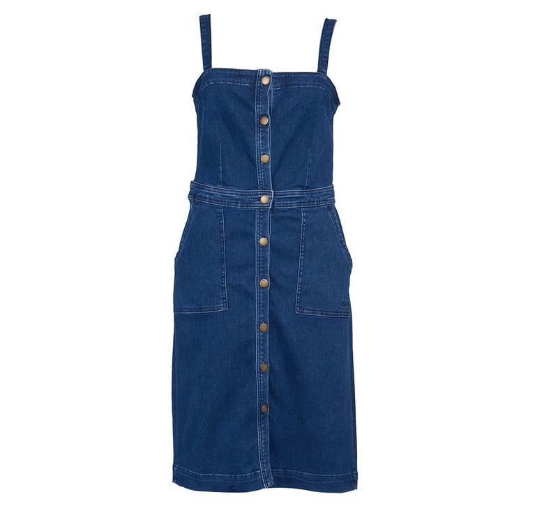 Barbour Darcie Denim Pinafore - Mid Wash