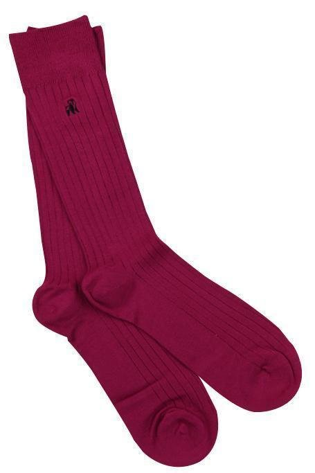 Swole Panda Women's Cerise Ribbed Sock - Cerise Ribbed