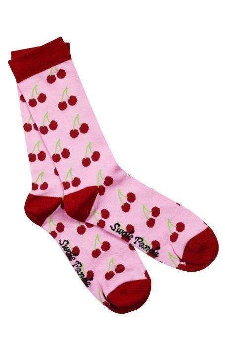 Swole Panda Women's Panda Socks - Cherry
